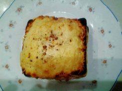 sandwich al horno con queso receta terminada