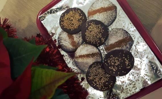 Receta de Mantecados sin azúcar de Coco y Chocolate