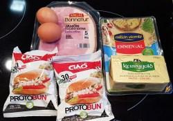 Ingredientes para hacer Huevos Benedict