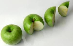 Pastel con Harina integral y Manzana