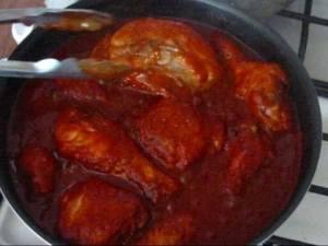 Piernas de pollo al Café de Coñac