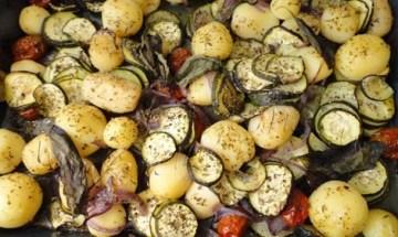 Patatas y Calabacines al horno
