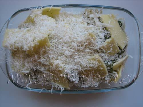 Verduras con queso parmesano y queso para fundir