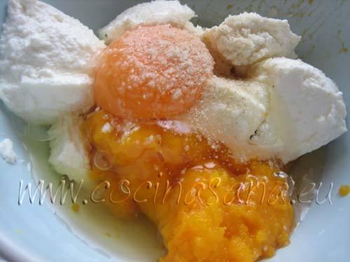 Huevos, Calabaza y queso ricotta para el relleno