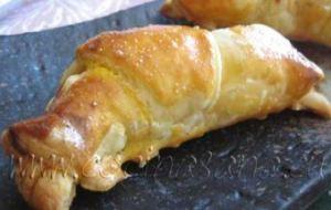 Rico Croissant de Calabaza, Queso ricotta y Nueces