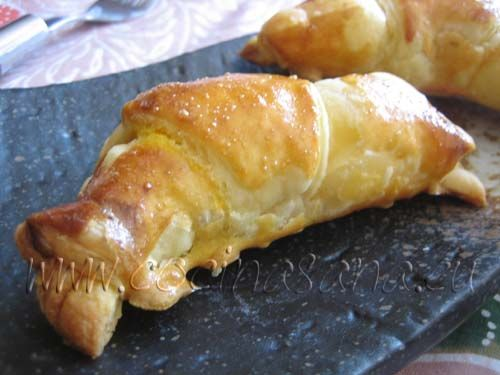 Croissant de Calabaza, Queso ricotta y Nueces