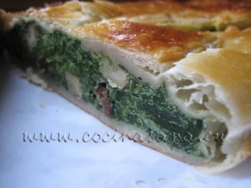 Receta de Strudel de espinacas y queso fresco con nueces y pasas