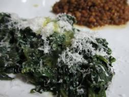 Cómo hacer Espinacas salteadas con Queso Parmesano