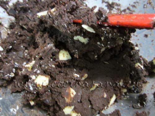 añade las gotas de chocolate