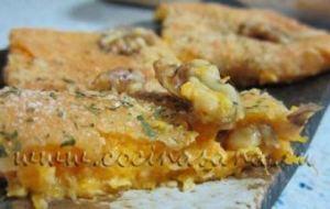 Cuadraditos de Calabaza con Queso y Nueces
