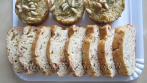 Como preparar un Plum-cake salado, con coliflor y avellanas. Entrante perfecto.