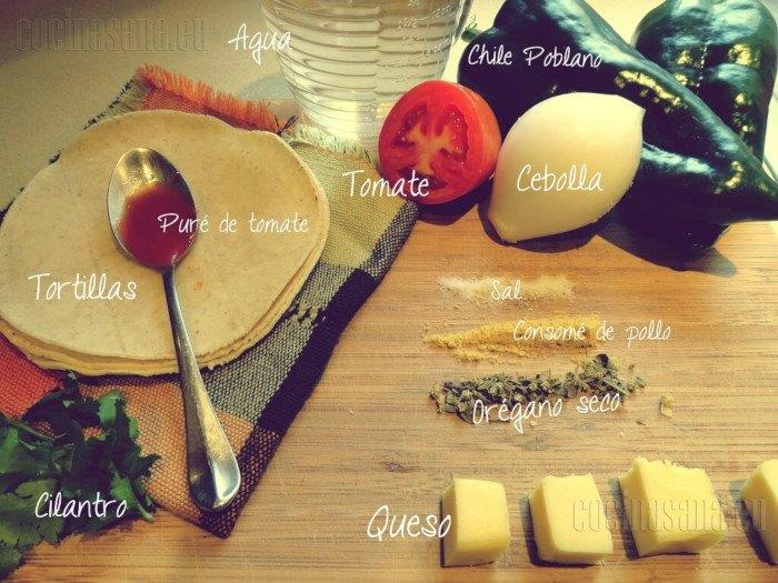 Estos son los ingredientes que necesitaras para tu sopa