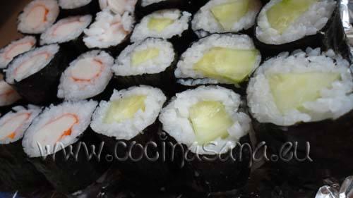 Maki-sushi de pepino