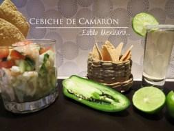Ceviche mexicano de Camarón (Gambas) [Receta y vídeo]