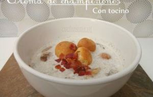 Crema de Champiñones con Tocino: Receta completa