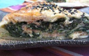Quiche de Espinacas y salmón... Un Matrimonio muy original
