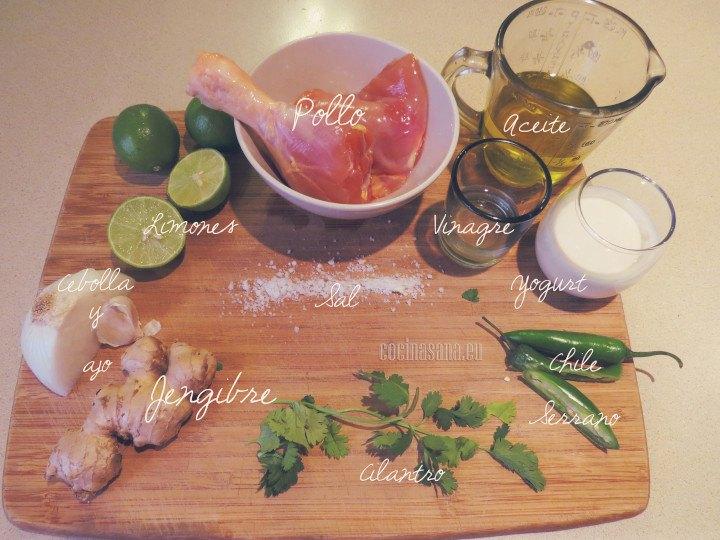 Los ingredientes a necesitar son los siguientes