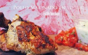 Pollo Estilo Tandoori: Receta fácil