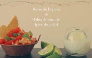 Dos salsas fáciles: Salsa de Pepino y Salsa Pico de Gallo