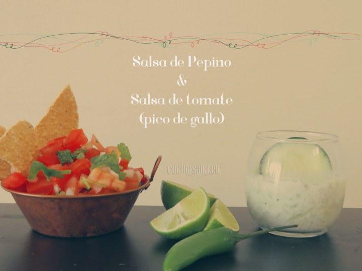Salsa de Pepino y Pico de Gallo