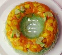 Rosca de Jícama, Pepino y Mango: Receta paso a paso