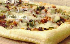 Galette de Chorizo y Calabacita: receta con hojaldre
