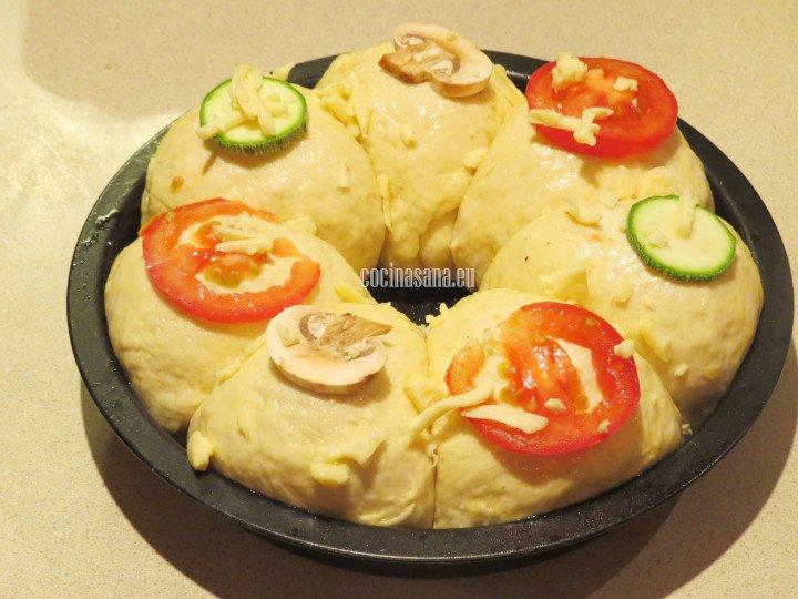 Colacar las verduras y hornear a 180°C por 30 minutos.