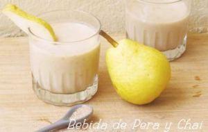 Bebida de Pera y Chai para fortalecer defensas