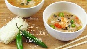 Sopa de Coco y Camarón: Receta sencilla