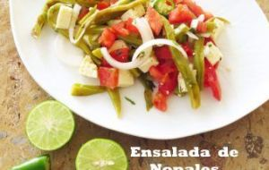 Ensalada de Nopales... una ensalada fresca, sana y deliciosa