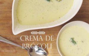 Crema de Brócoli sencilla y deliciosa