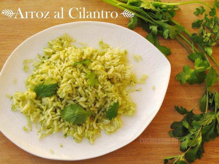 arroz al cilantro