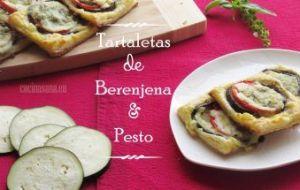 Tartaletas de Berenjena, Tomate y Pesto de Nuez. Receta con vídeo