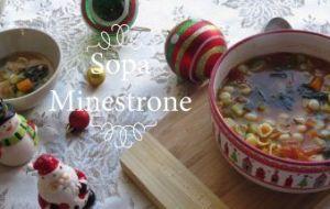 Sopa Minestrone: Videoreceta explicada con todo detalle