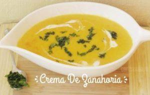 Crema de Zanahoria. Una fácil receta