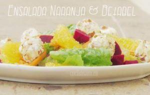 Ensalada de Naranja y Betabel (Remolacha)