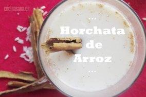 Agua de Horchata mexicana con Arroz
