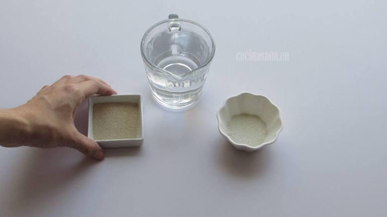 Mezclar levadura con Agua