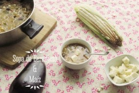 Sopa de Berenjena y Maíz: receta fácil y muy saludable