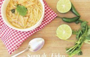 Receta de Sopa casera de Fideos y Tomate: receta tradicional