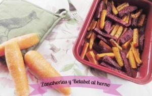 Zanahorias y Betabel al Horno: Receta vegetariana fácil