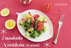 Ensalada Navideña con Granada y Vinagreta de Mostaza Dulce: fácil y rápida