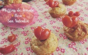 Muffins de Tomate Cherry y Calabacín para San Valentín