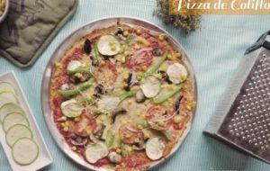 Pizza Sin Gluten de Coliflor con Verduras: receta de pizza para celiacos
