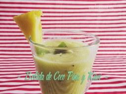 Bebida de Coco, Piña y Kiwi: fácil de hacer y muy sana