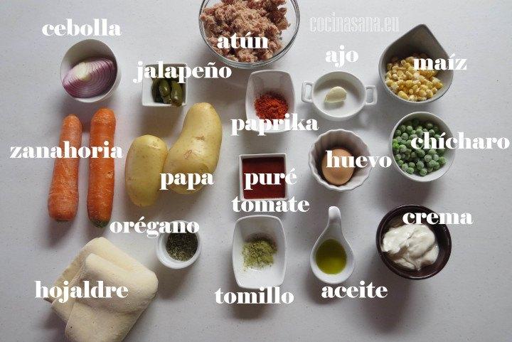 Ingredientes para el Pay de Atún
