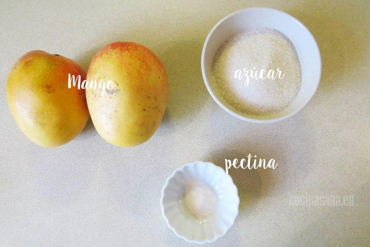 Ingredientes para la Mermelada de Mango