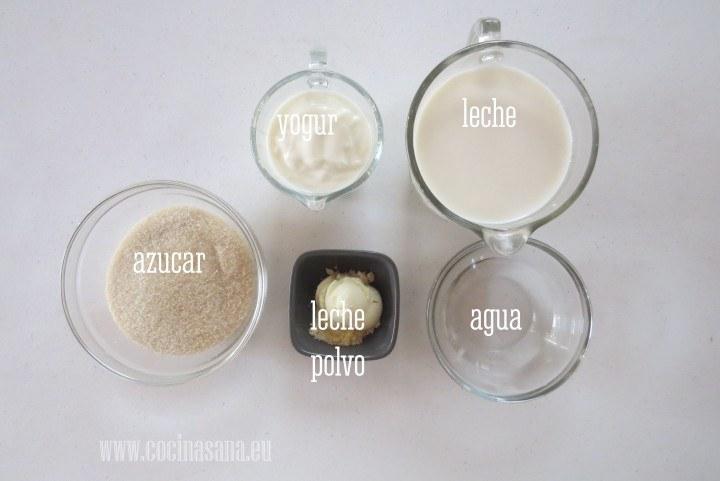 Ingredientes para el Yogur Casero