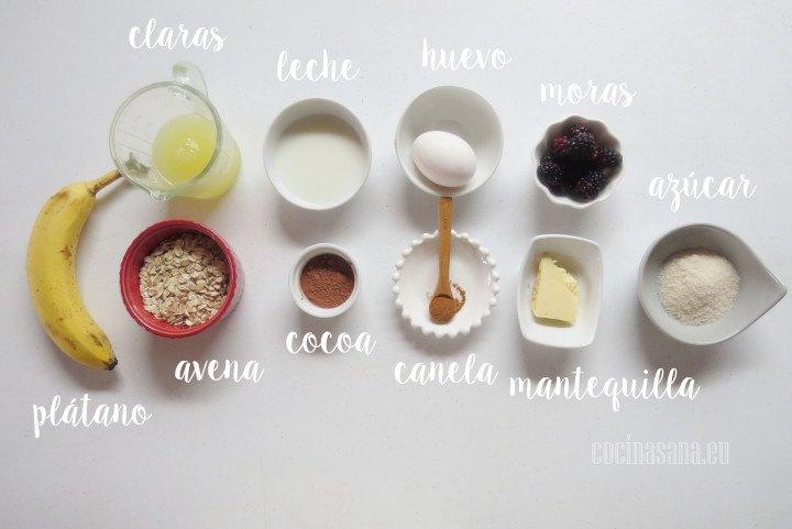 Ingredientes para los Waffles de Avena