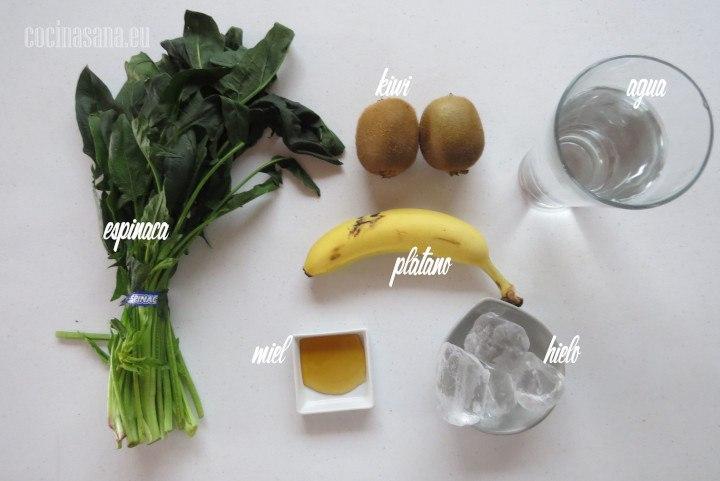 Ingredientes para Preparar el Smothie de Kiwi